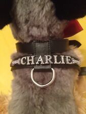 Personalised Dog Harness different colours with diamante / rhinestone / charms