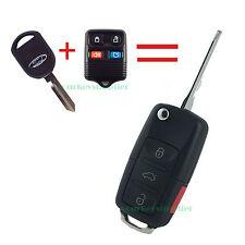 New Ford Lincoln Mercury Flip Key Fob Keyless Entry Remote - 4 Button