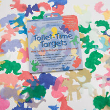 100 Pack Boys Girls Potty Training Aid Biodegradable Toilet Time Tinkle Targets