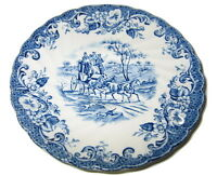 JOHNSON BROTHERS COACHING SCENES PLATE Ironstone England HUNTING COUNTRY 5 3/4