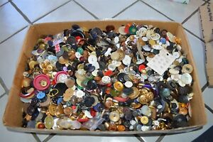 18 pounds vintage clothing buttons Nice Estates Lot