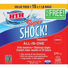 New listing Hth Super Shock Pool Shock Treatment, 1 lb Granule Bags 15 bags New Ships Today