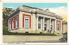 Post Office in Norwich CT Postcard