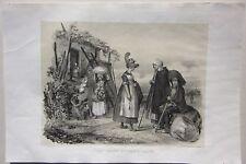 1838 COSTUMES BOURBONNAIS lito Durand Allier Desrosiers Montluçon Vichy Moulins