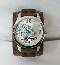 Ed Hardy Blue Leopard Leather Watch