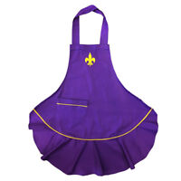 Purple Fluer De Lis Apron - Rockpoint Lady Cajun Apron