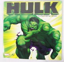 Rare Marvel's The Hulk 2004 16 Month  Wall Calendar SEALED