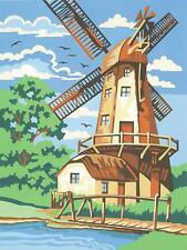 """Reeves WINDMILL Paint by Number Kit 9"""" X 12"""" 1678  FREE SHIP"""