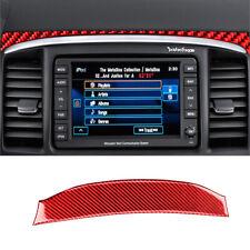 Red Carbon Fiber GPS Navigation Upper Cover Trim For Mitsubishi Lancer 2008-2015