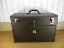 Vintage Kennedy 7 Drawer Sliding 520 Brown Machinist Toolbox Chest with 2 Keys
