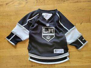 Black Reebok LA Kings Hockey Jersey Toddler Size 2-4T Doughty #8 NHL cleaned