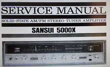 Sansui 5000X st tuner service amp manuel inc scm sanhq imprimé bound eng plus tard v