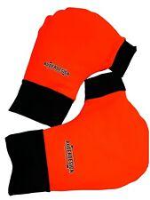 Ruderhandschuhe orange/schwarz mit Aufdruck, Rudern, Rowing, Poggies