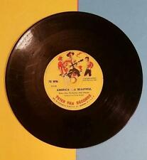 VINTAGE 1950's CHILDREN'S PETER PAN RECORD - STAR SPANGLE BANNER - AMERICA THE B