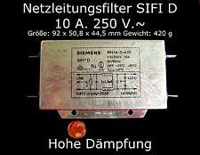 Cable de alimentación de filtro sifi d 10a.250 V. ~ tordos, bobinas & filtros pasiva baueleme