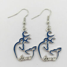 Fashion Jewelry, Browning Jewelry(Blue) Heart Lover Browning Deer Earrings,