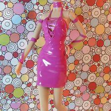 BLONDIE Debbie Harry BARBIE Hot Pink Patent Mini DRESS Pink SHOES Gold NECKLACE