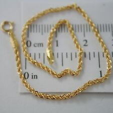 18K YELLOW GOLD BRACELET, 2MM BRAID ROPE MESH, 7.30 INCHES LONG, MADE IN ITALY