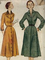 1950s Simplicity Vintage Sewing Pattern 3720 Dress Bust 32
