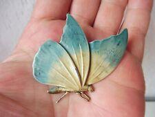 schöne , alte Brosche,  Schmetterling  , Metall !