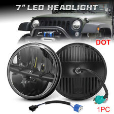7 Inch Round Cree LED Headlight High Low Beam For Jeep Wrangler JK TJ CJ LJ DOT