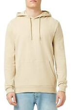 B&C Mens Hoodie Sweatshirt Plain Beige Cream Hooded Drawstring Kangaroo XXL
