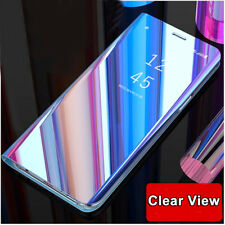 360° Full Cover Flip Clear View Leather Book Case for Huawei P20 Pro/P Smart/P10