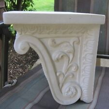 (1) Vintage Plaster Architectural Corbel Unpainted (2 available)