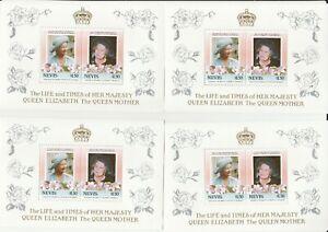 4 Blocks Nevis Queen Mint 5a