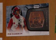 Topps STAR WARS Force Awakens Serie 2 Card MEDALLION 25 POE DAMERON Carte Rare