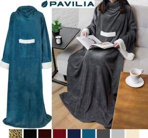 Snuggie Fleece Wearable Blanket with Sleeves Pocket Microfiber Warm TV Blanket