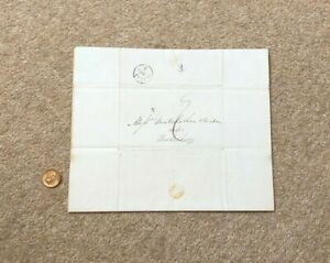1836 GB Pre Stamp Entire to Gloucester from London Maltese Cross LS