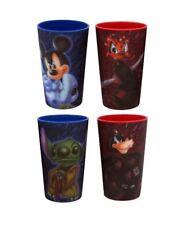 Disney Parks Star Wars Lenticular Hologram Cups Set 4 Mickey Stitch Yoda Goofy