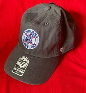 CLEVELAND INDIANS MLB FITTED CHIEF WAHOO BATTER FRANCHISE HAT/CAP '47 BRAND NWT