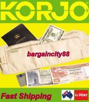 Travel Money Belt Zip Passport Waist Porch Sport Bum Bag Waist Wallet Large New