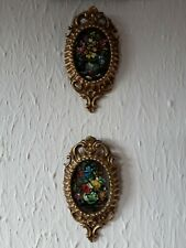 More details for a pair of vintage small oil paintings on board