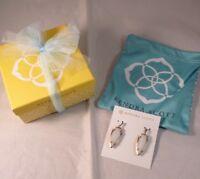 Kendra Scott Kathryn Earrings in White Banded Agate NEW IN GIFT BOX