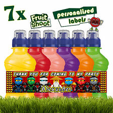 7 x Personalised Lego Ninjago Fruit Shoot Labels Bottle Stickers Birthday Party