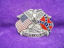 BELT BUCKLE North Carolina Dixie Pride Flags