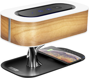 Bedside Tree Touch Lamp with Bluetooth Speaker, Wireless Charger, and Sleep Mode