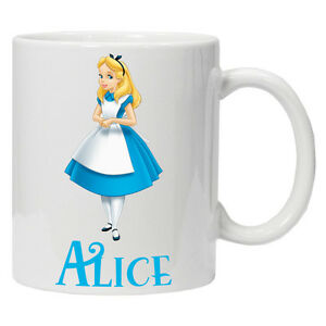Personalised Alice in Wonderland Mug/Cup Perfect Gift Birthday Adult/Child Sizes