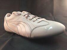 Puma Women's YALU LUX ll Leather Trainers 354228 03 Grey UK 3.5