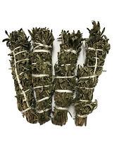 "Mugwort(Black Sage) Hand-wrapped Smudge Stick 9"" Long 2"" Wide 4 Pack Free Ship"