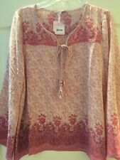 New Calypso St Barth Floral Silk Tunic Blouse Kadiri Top Size XS $325 Pink