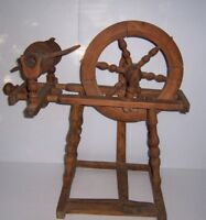 Antique Primitive Wooden Spinning Wheel