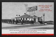 Willard's Restaurant Los Angeles CA California postcard