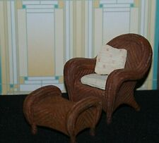 Take A Seat Wicker With Ottoman Raine Willitts Designs c.1990