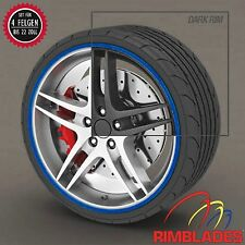 FELGENSCHUTZ Rimblades BLAU Styling Felgenschutzringe Rim Guard Wheel Rings BLUE
