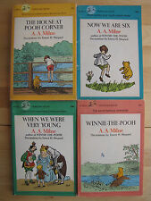 Winnie the Pooh lot 4 Vintage PB Books A.A. Milne When We Were Young Pooh Corner
