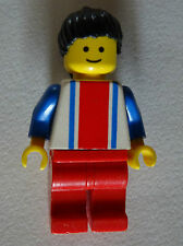 Lego Freestyle - Minifig - Vertical Lines Red & Blue - Blue Arms - Red Legs, Bla
